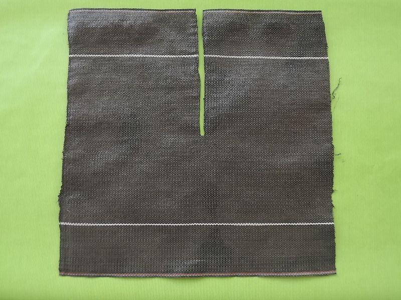 collerette toile tiss e 40x40 x100 paillage et d sherbage. Black Bedroom Furniture Sets. Home Design Ideas