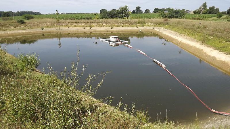 Bache de retention d eau bande transporteuse caoutchouc for Bache pour bassin de retention